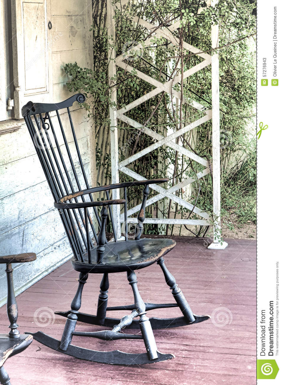 Antique porch rocking chairs - The Old Blue Rocking Chair
