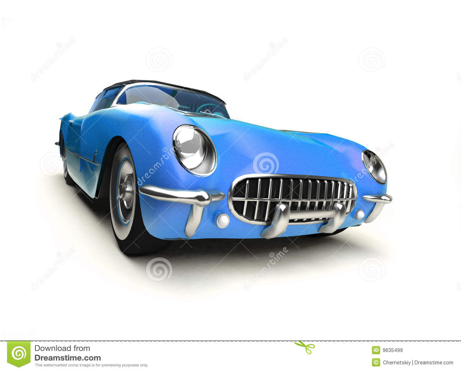 Old blue sports car stock illustration. Illustration of isolated ...