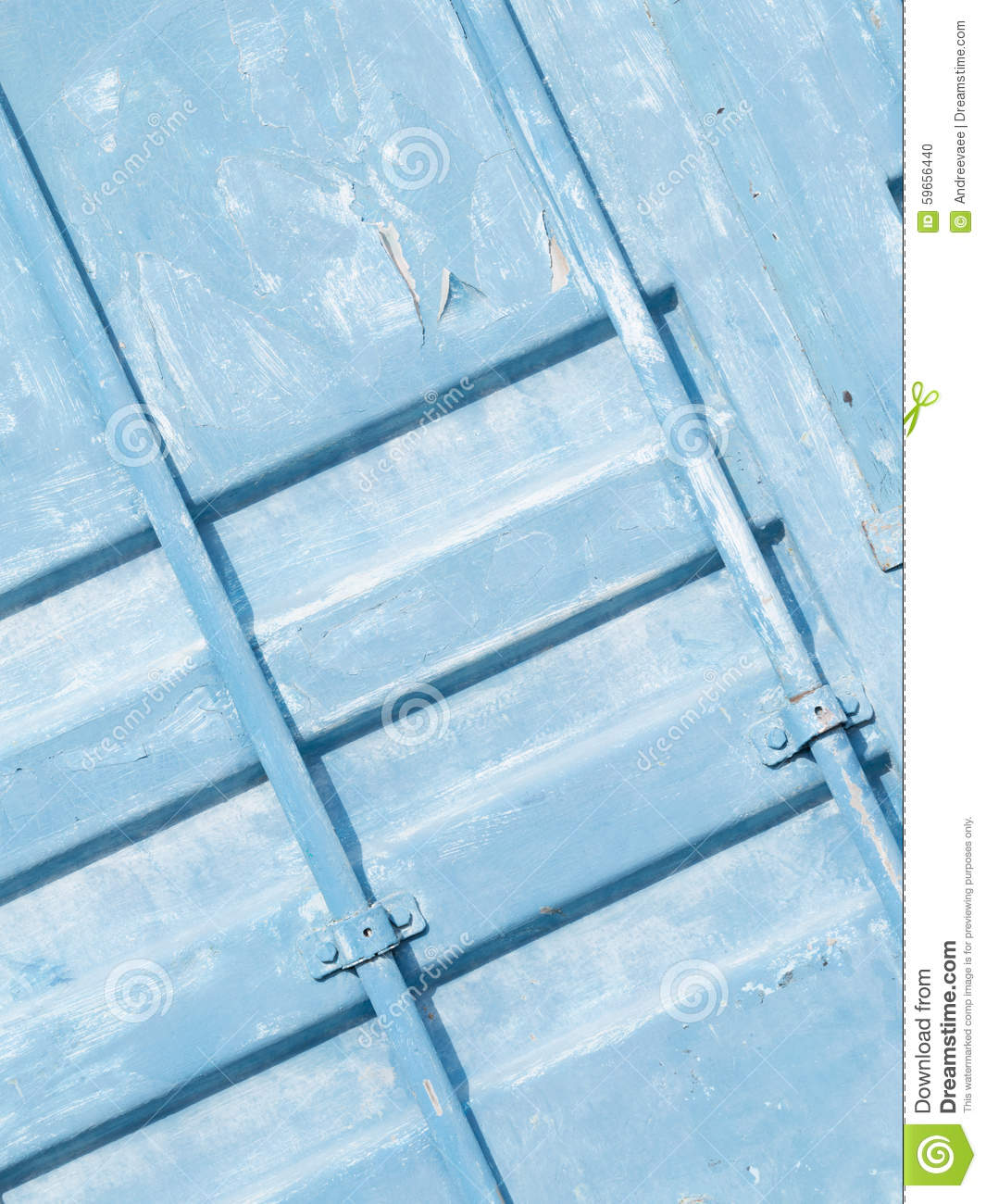 Old Blue Surface Of The Container Stock Photo Image