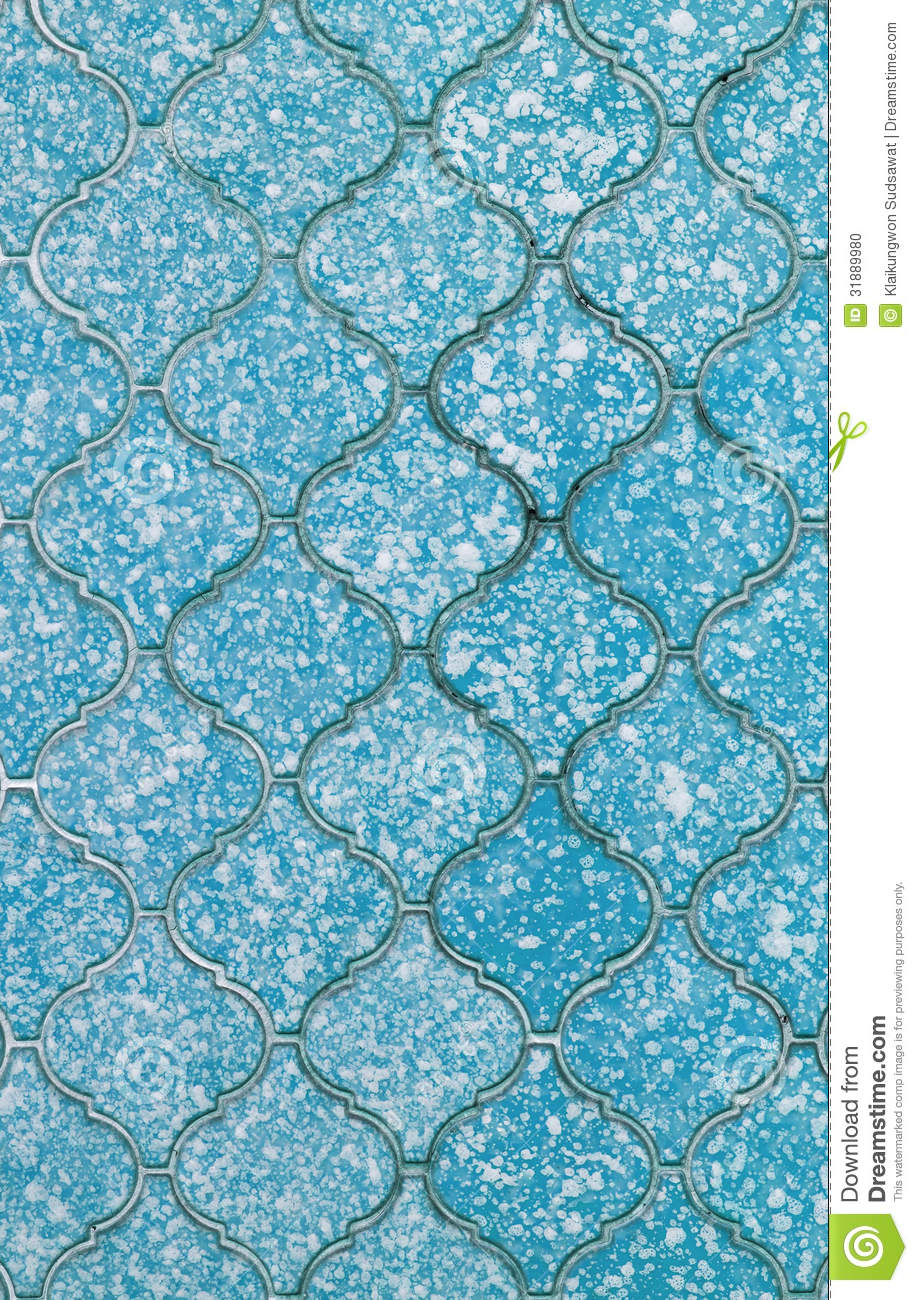 Old Blue Tile Background And Texture Stock Photo Image
