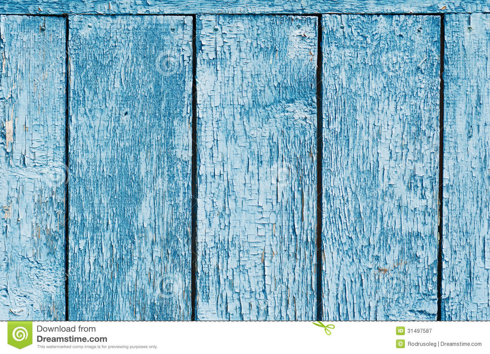 Old Blue Wood Plank Background Stock Image Image Of