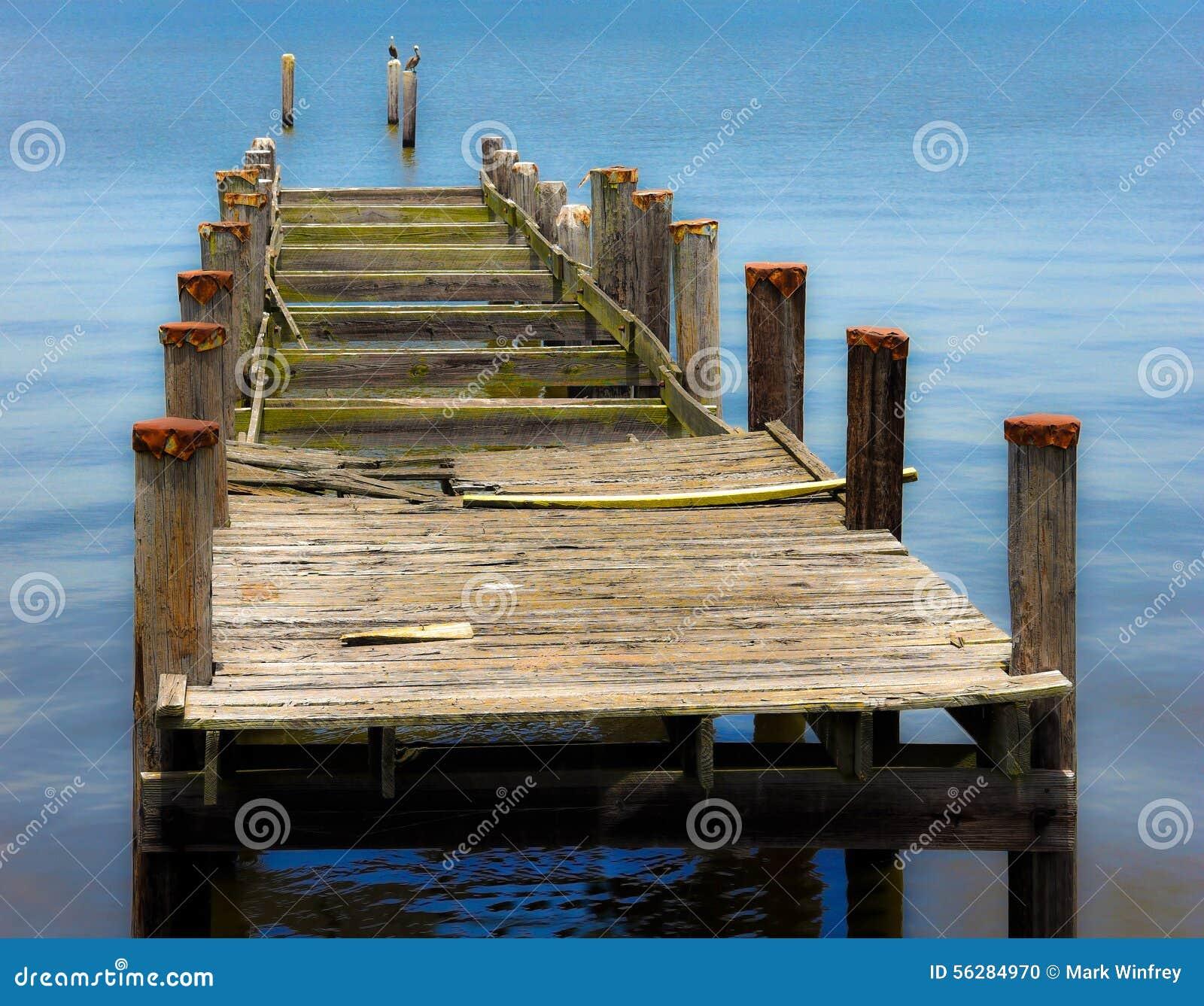 Old Boat Dock Stock Photo - Image: 56284970