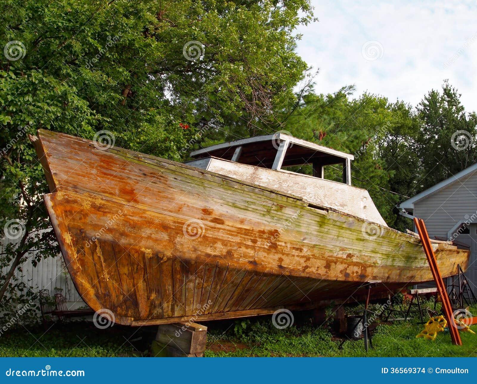 Old Boat Repair Stock Images - Image: 36569374