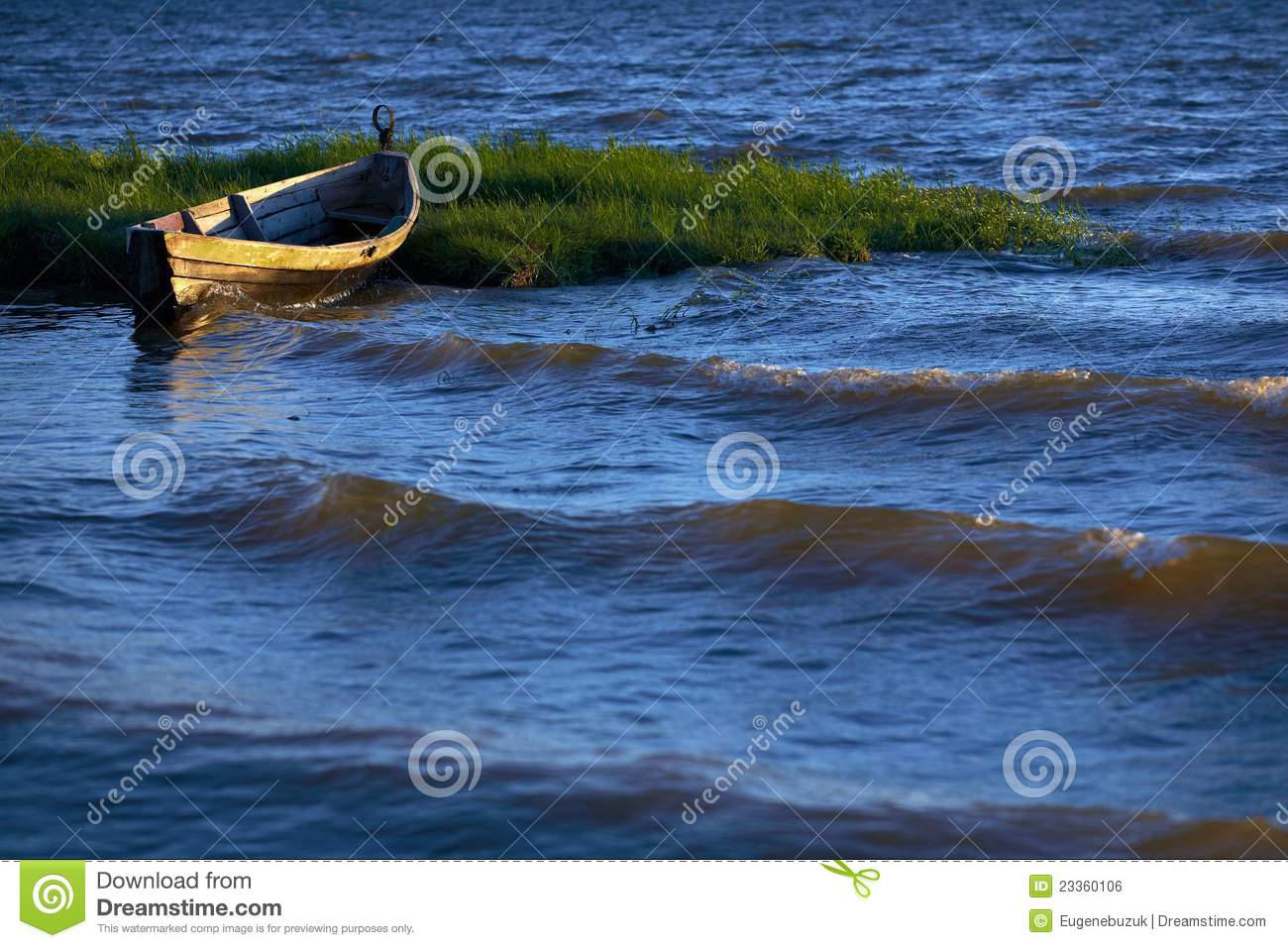 Old Boat On Water Royalty Free Stock Image - Image: 23360106