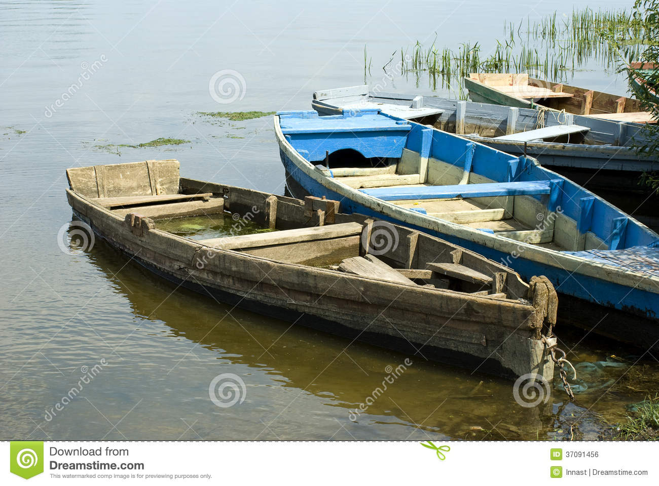 Old Boats Stock Photo Image Of Sunny Summer Wooden