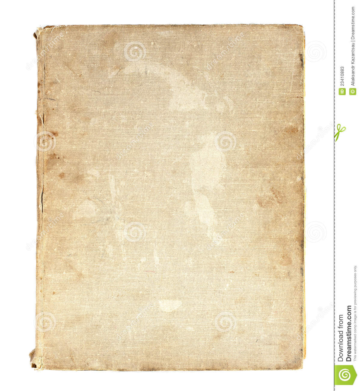 Linen Book Cover Material : Old book in a cloth cover stock image of