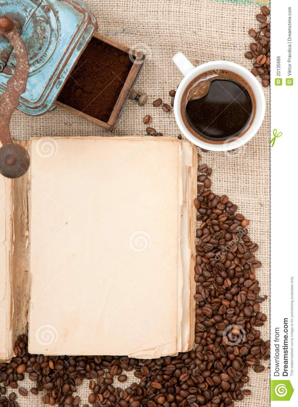old book with coffee stock photo  image of retro  fresh