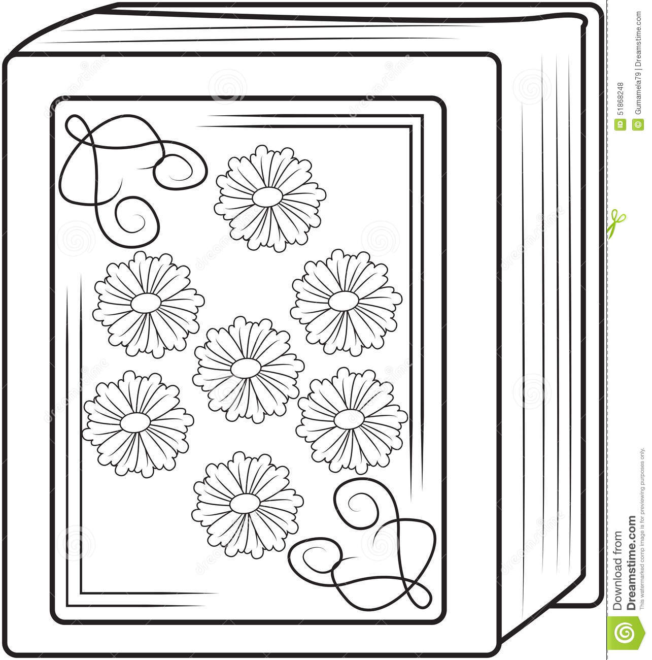 old book coloring page stock illustration image 51868248