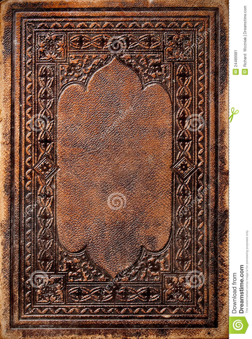 Old Law Book Cover ~ Old book cover stock image