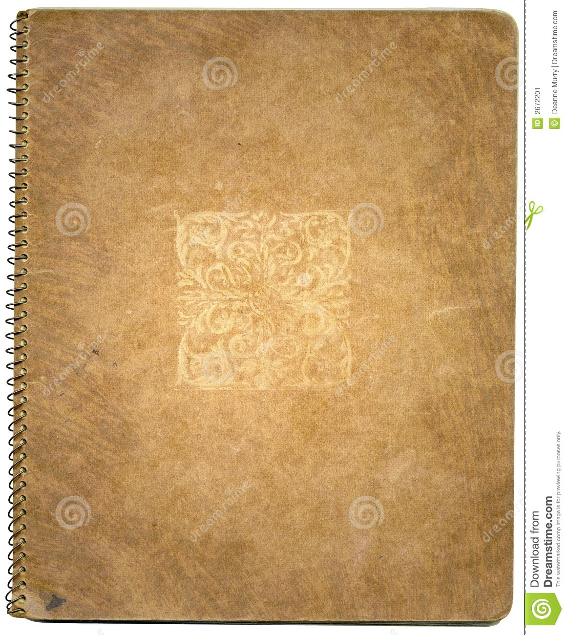 Old Brown Book Cover ~ Old book cover stock image