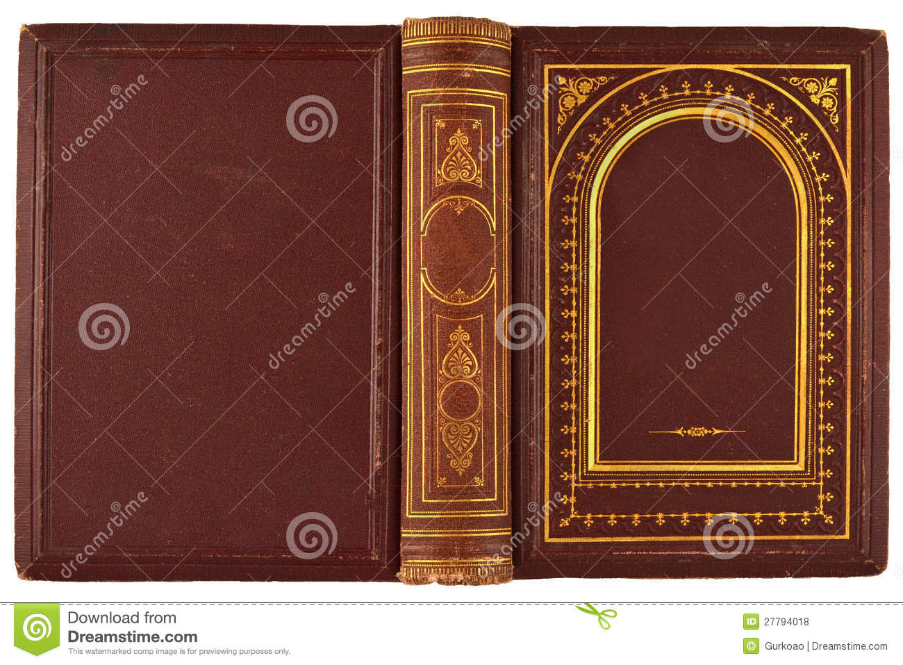Book Cover Stock Photography ~ Old book cover stock photo image of letter frame effect