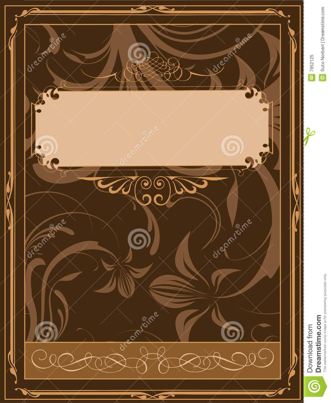 Book Cover Stock Images ~ Old book cover stock vector illustration of document