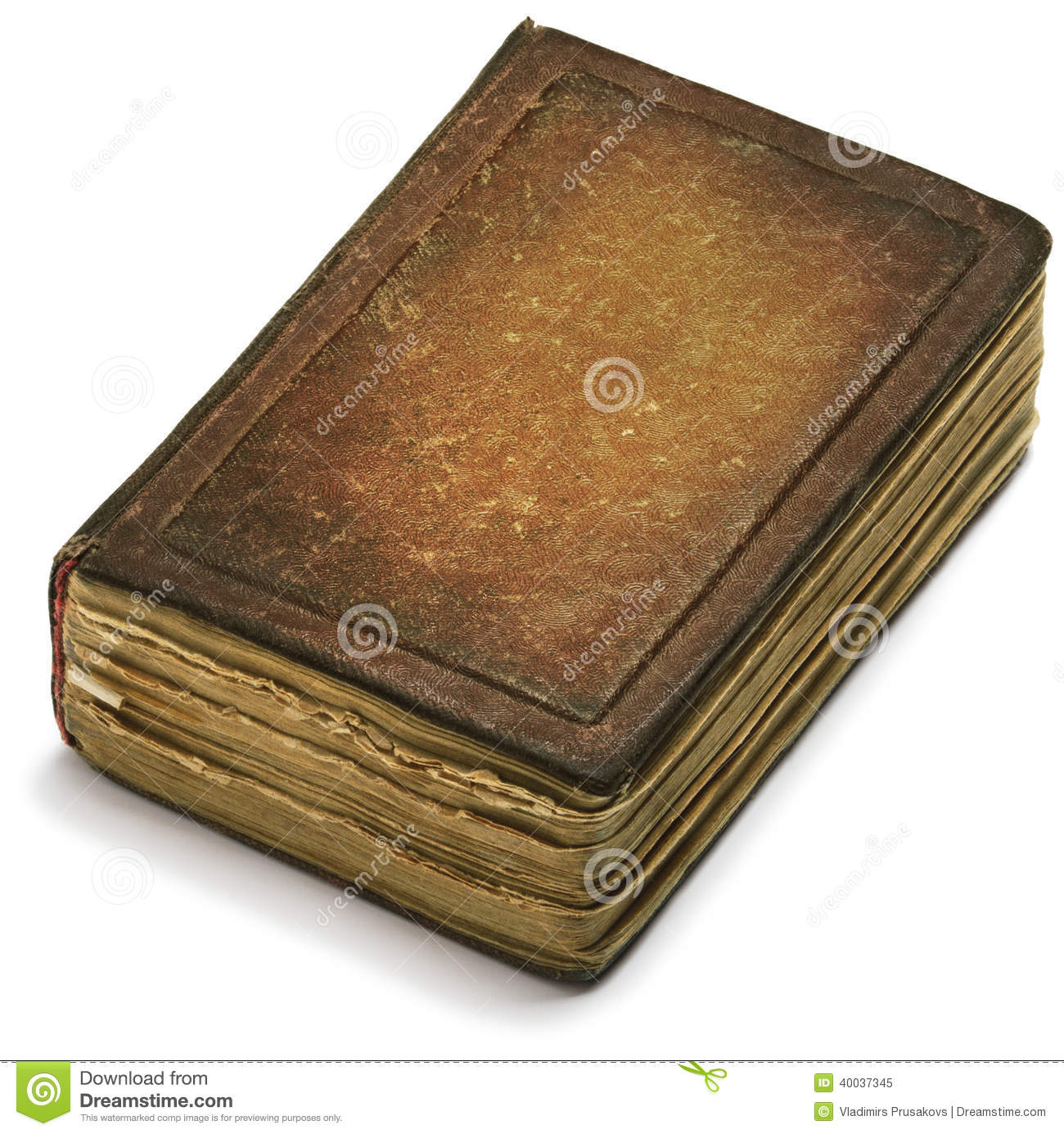 Book Cover White Background : Old book cover brown paper over white background stock