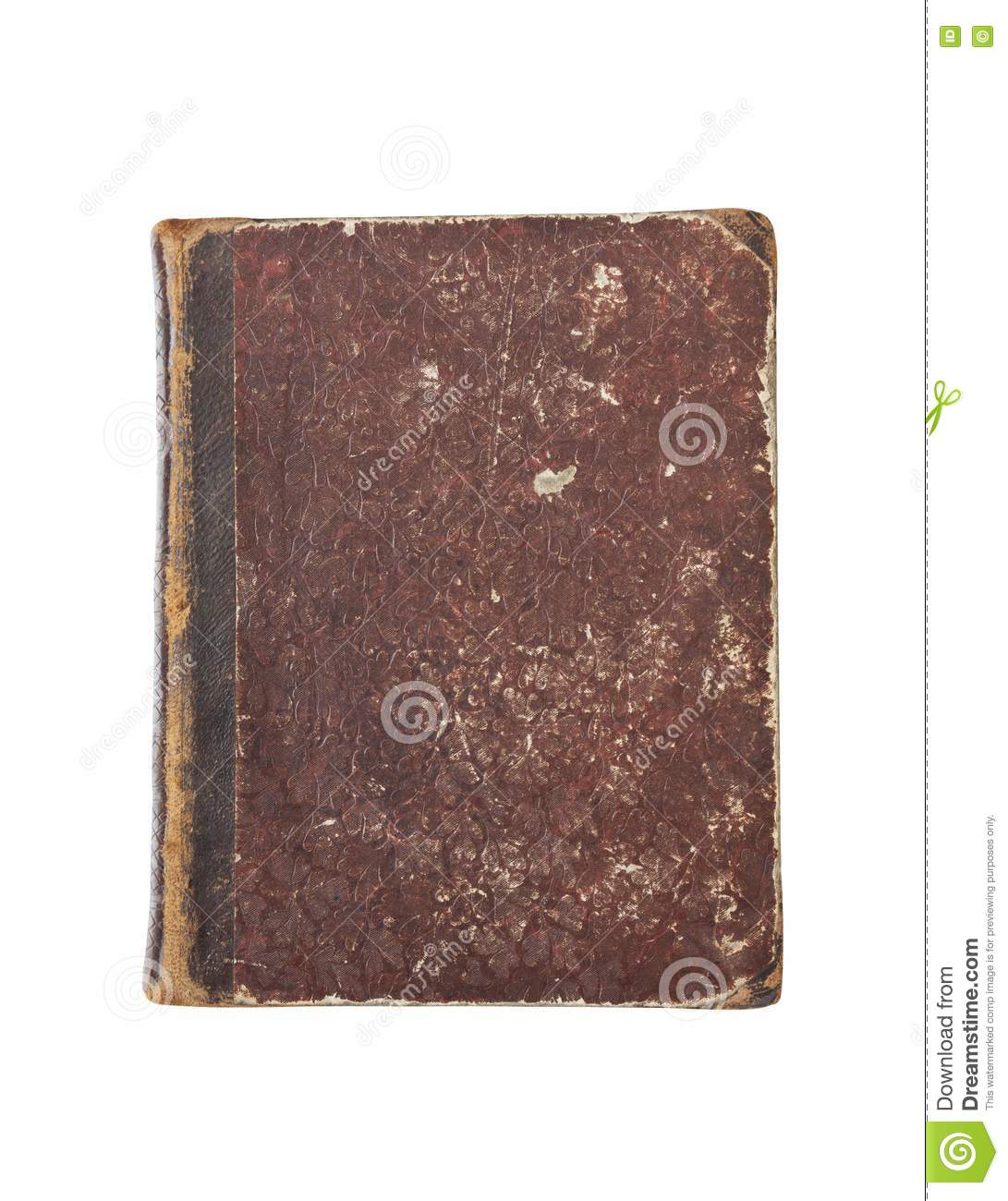 Book Cover Stock Art ~ Old book cover isolated royalty free stock photography