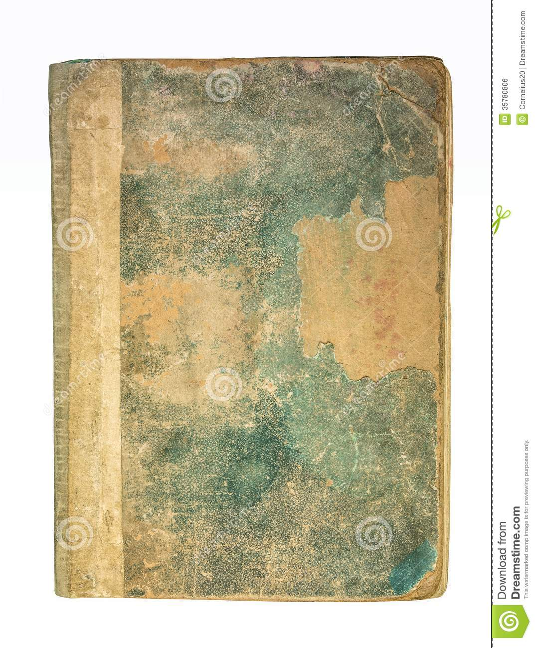 Vintage Book Cover Paper ~ Old book cover royalty free stock image