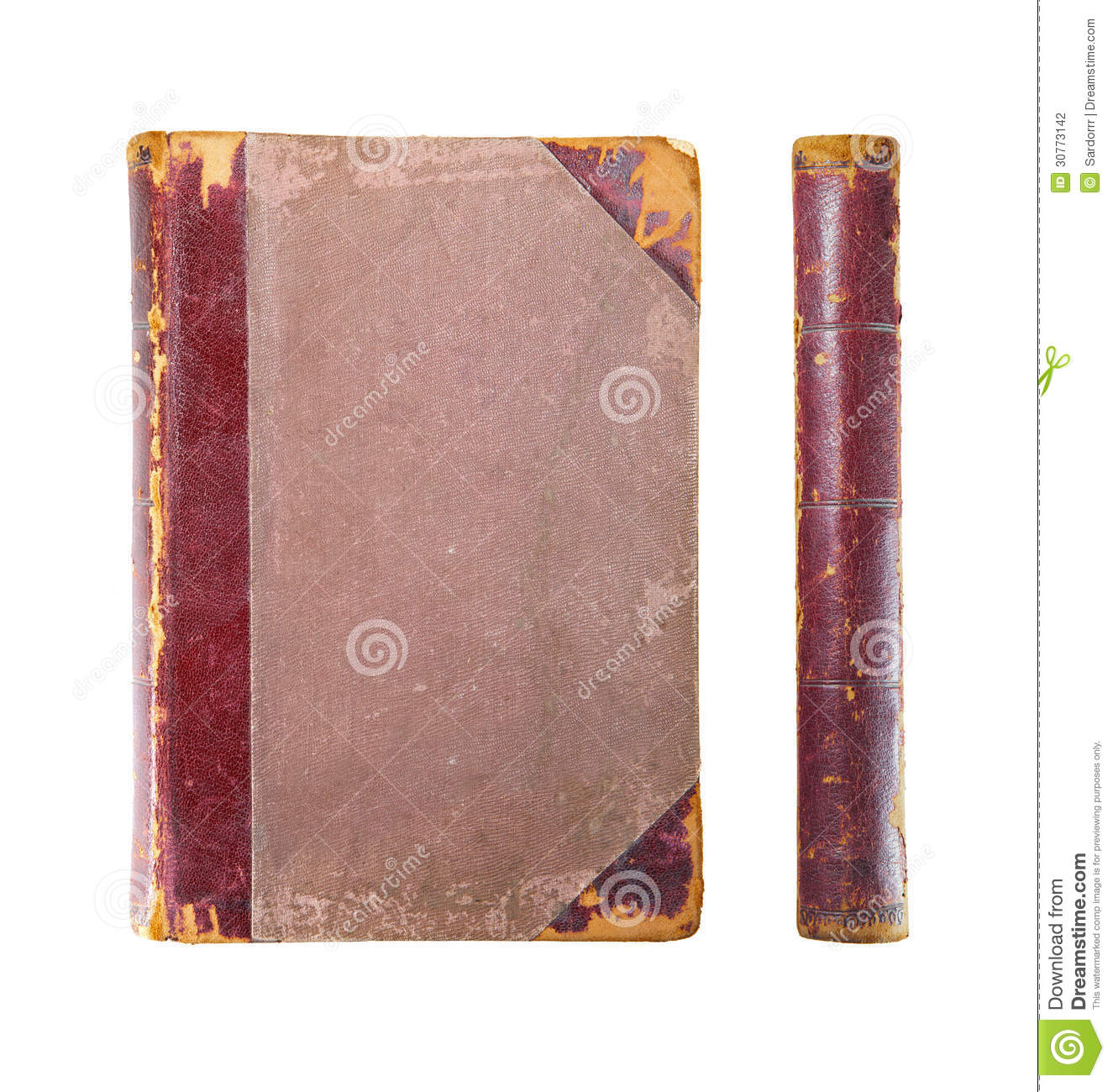 Book Cover Stock Art : Old book cover stock photography image