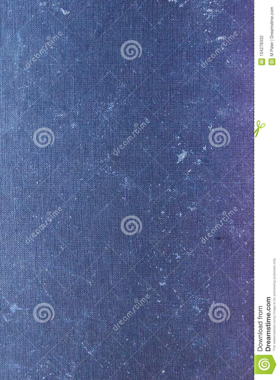 Grunge Book Cover Texture : Old book cover texture blue colored stock photo image of