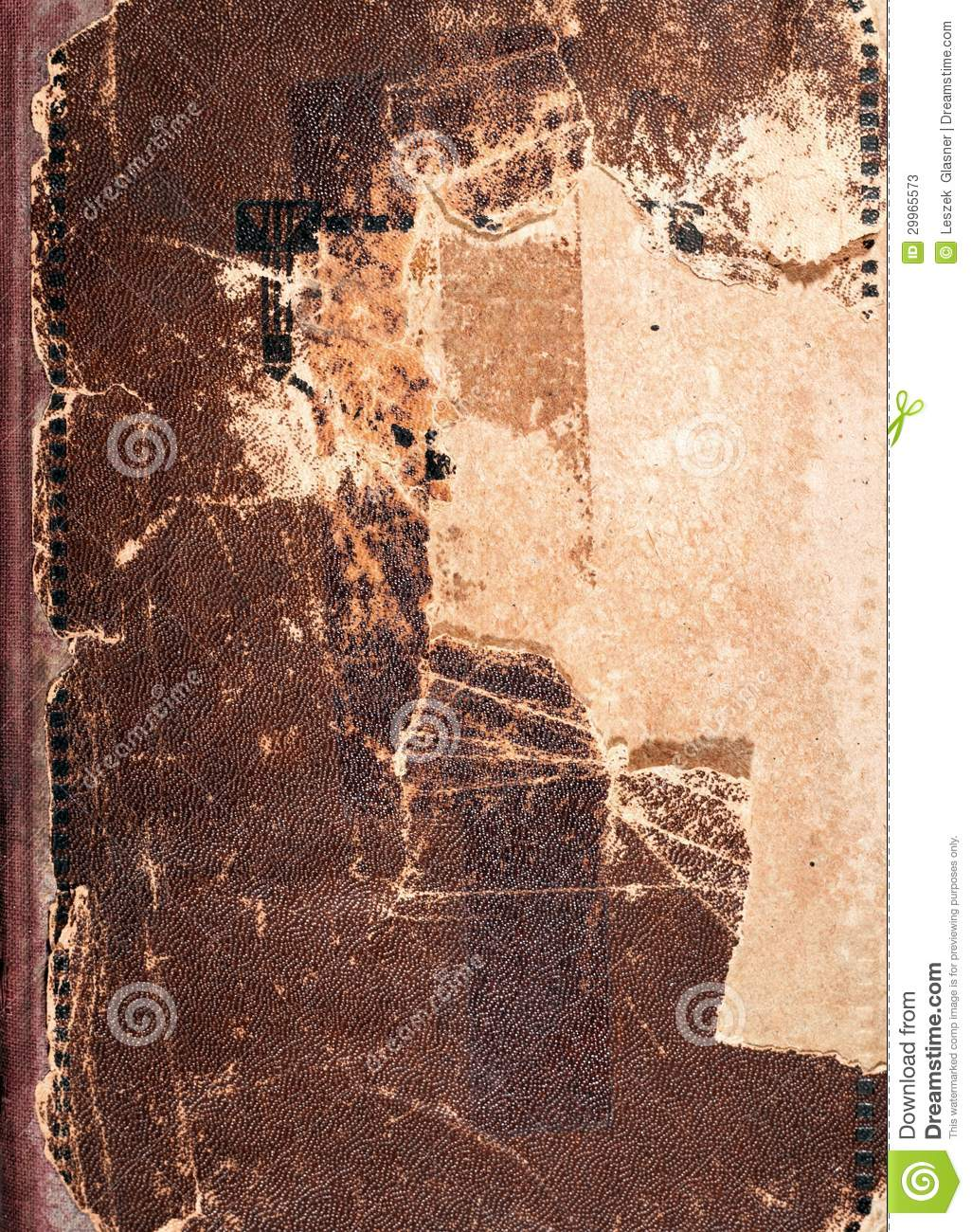 Antique Leather Book Cover Texture : Old book cover texture brown leather and paper stock