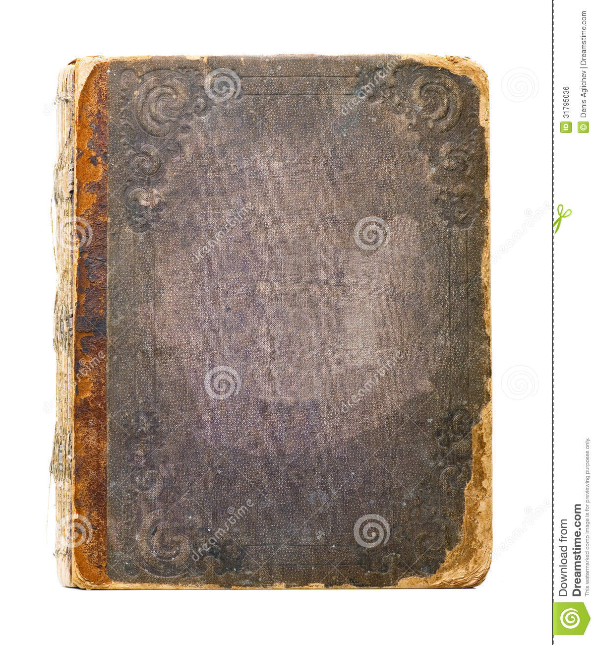Book Cover White Background : Old book royalty free stock image