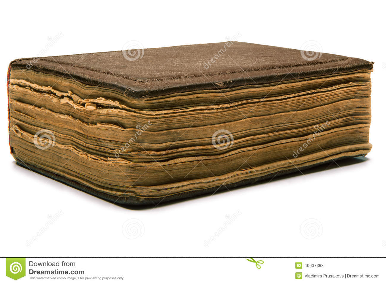 Book Cover Paper Zip : Closed book with torn pages stock image cartoondealer