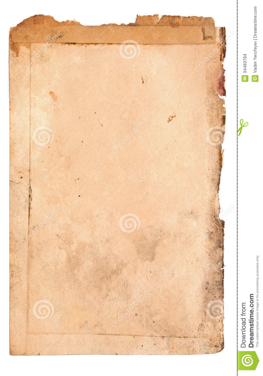 Old Book Page Stock Images - Image: 34463794