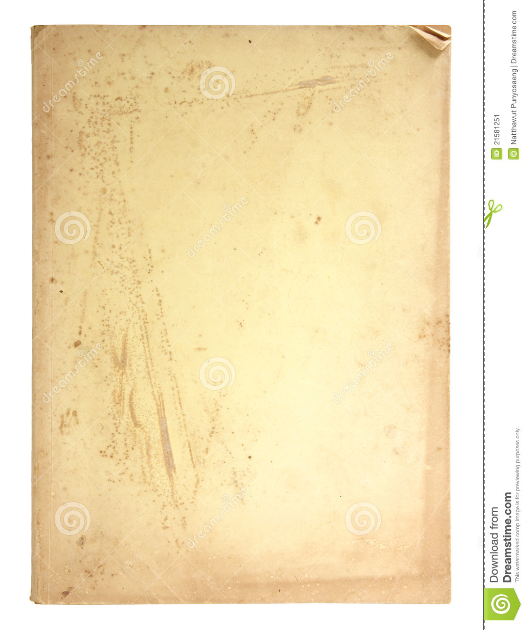 Old Book Pages Isolated Stock Image - Image: 21581251