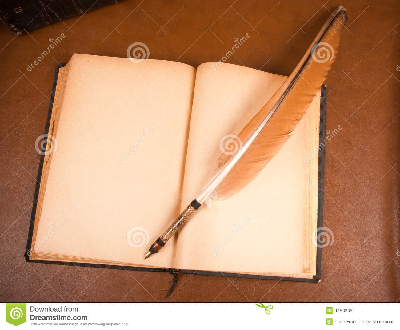 Old book and quill pen...