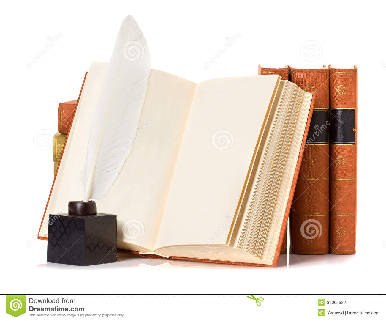 Old Book With Quill Pen Stock Photo. Image Of Literature