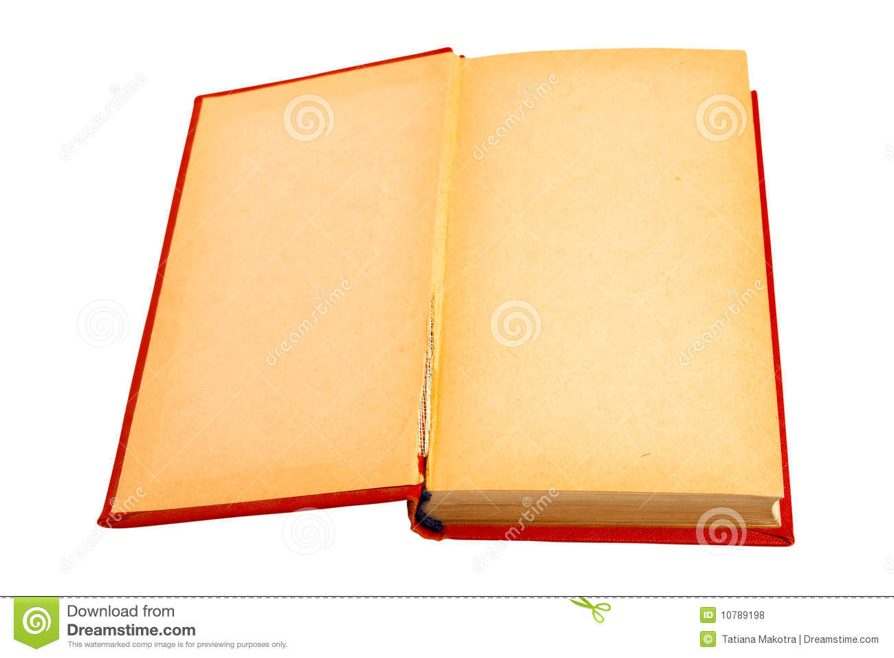 Old Red Book Cover ~ The old book in a red cover it is isolated stock photo