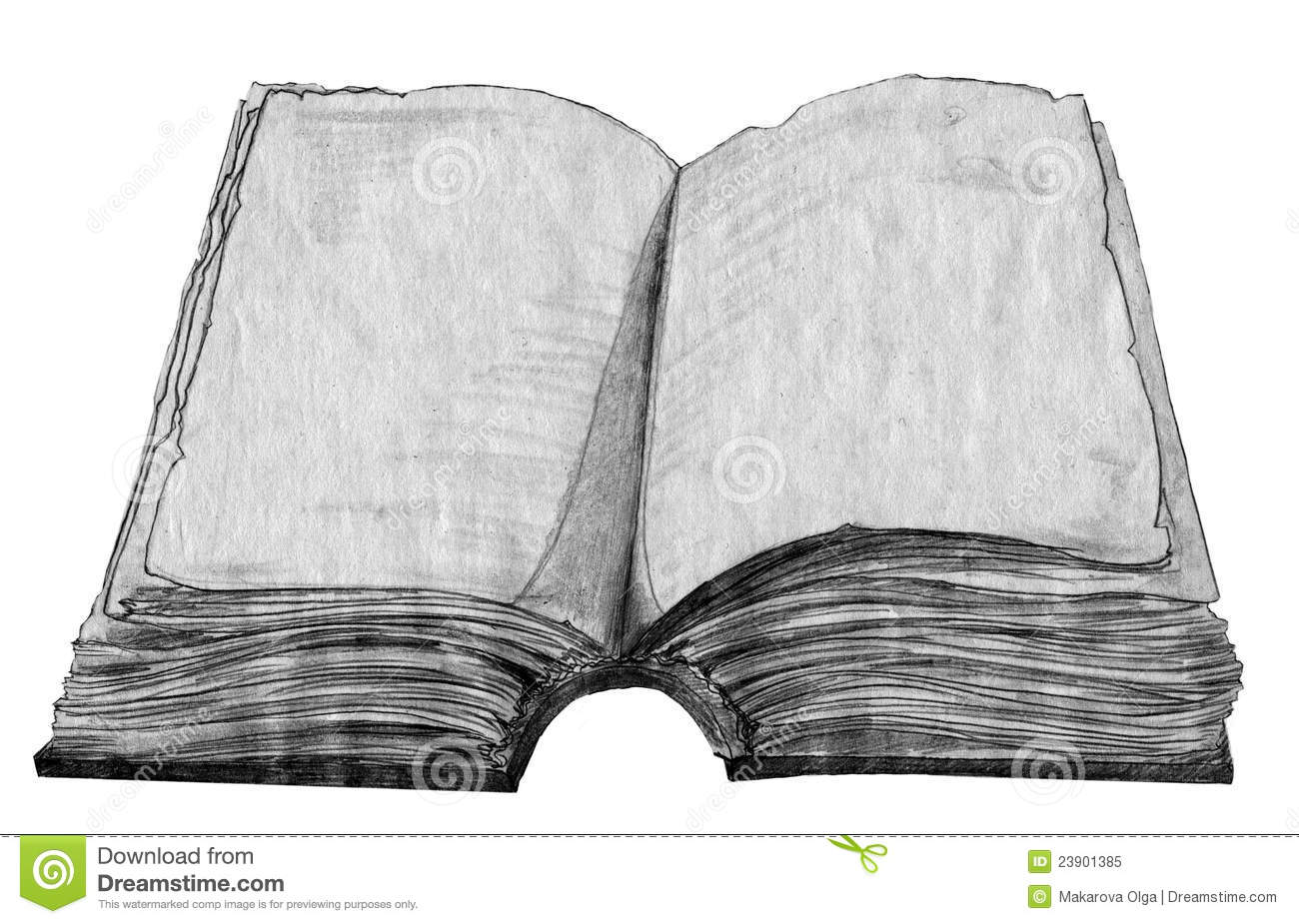 Old Book Sketch Royalty Free Stock Photo - Image: 23901385