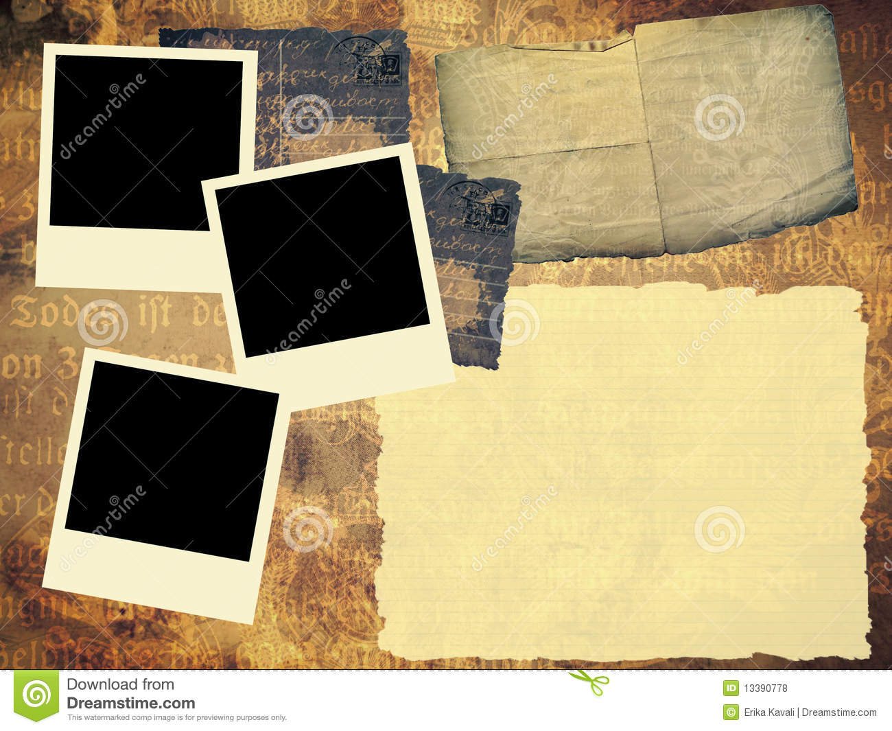 Old Book Template Royalty Free Stock Photos