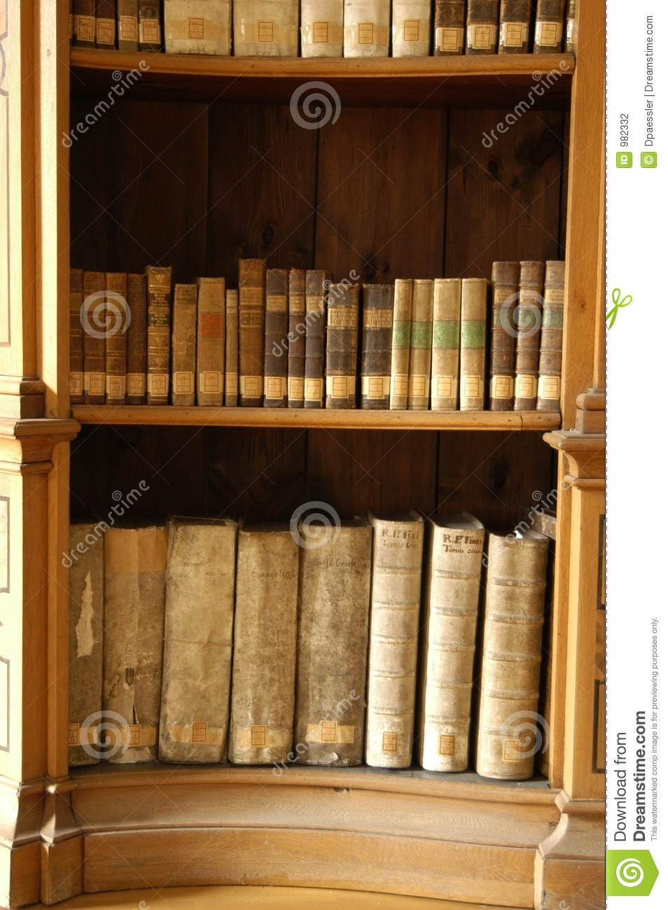 Old Bookcase Stock Photography Image - Old book case