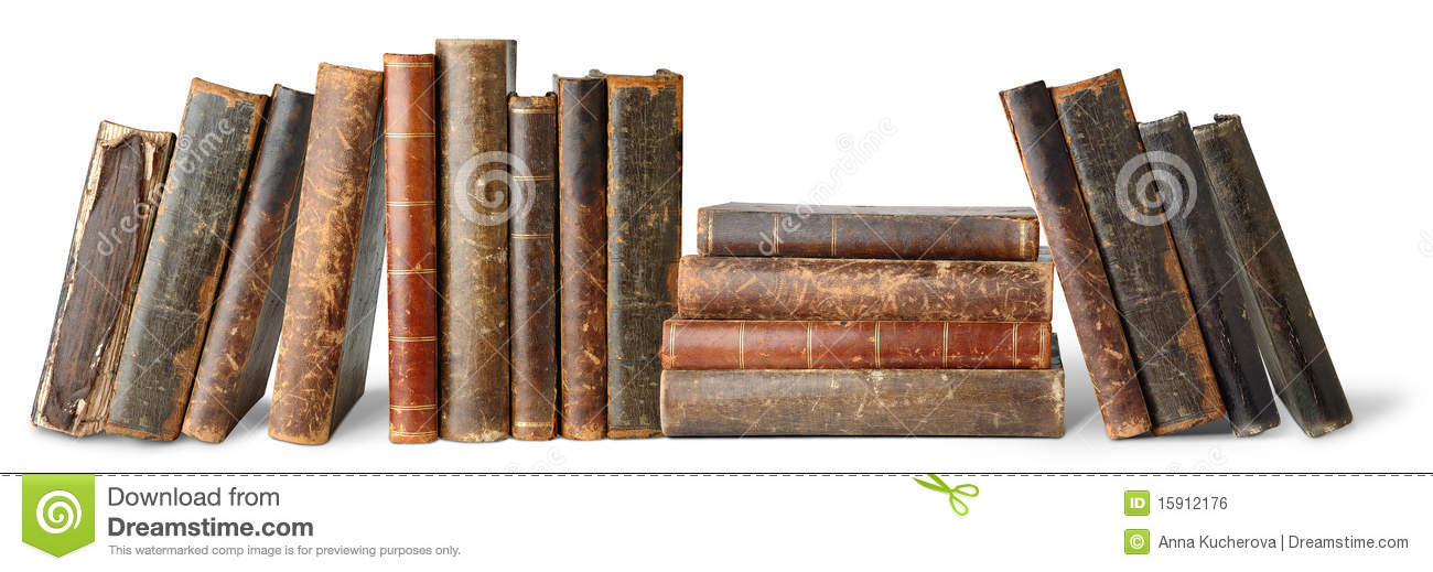 Download Isolated old books stock photo. Image of objects, library - 15912176