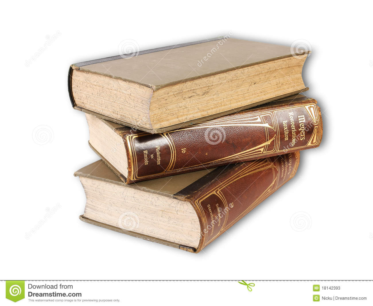 Old Books Pile Stock Photos - Image: 18142393