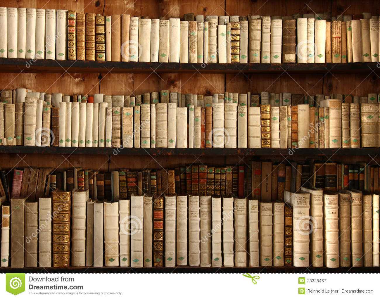 Old Books On A Shelf Stock Image Image Of Education 23328467