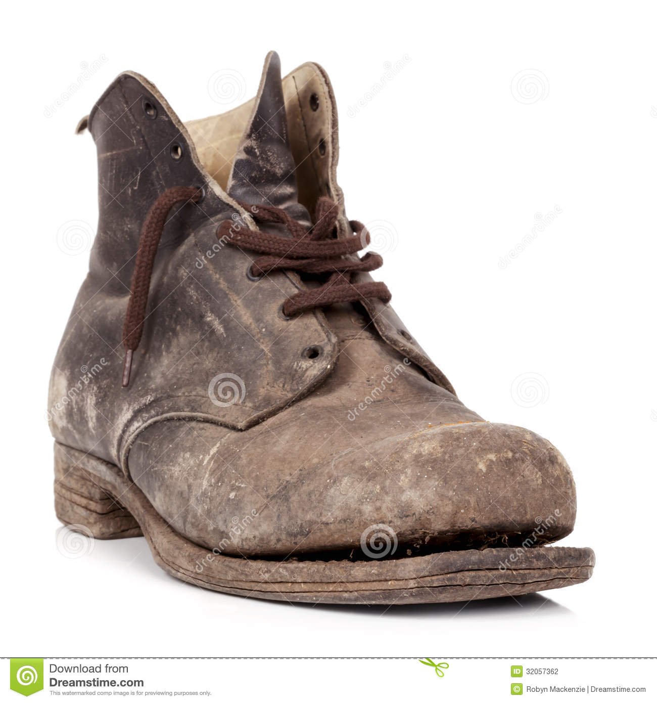 Old Boot Isolated Stock Photography - Image: 32057362