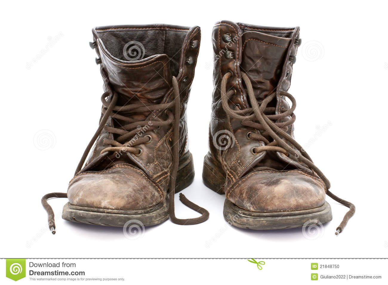 Old Boots Stock Photo