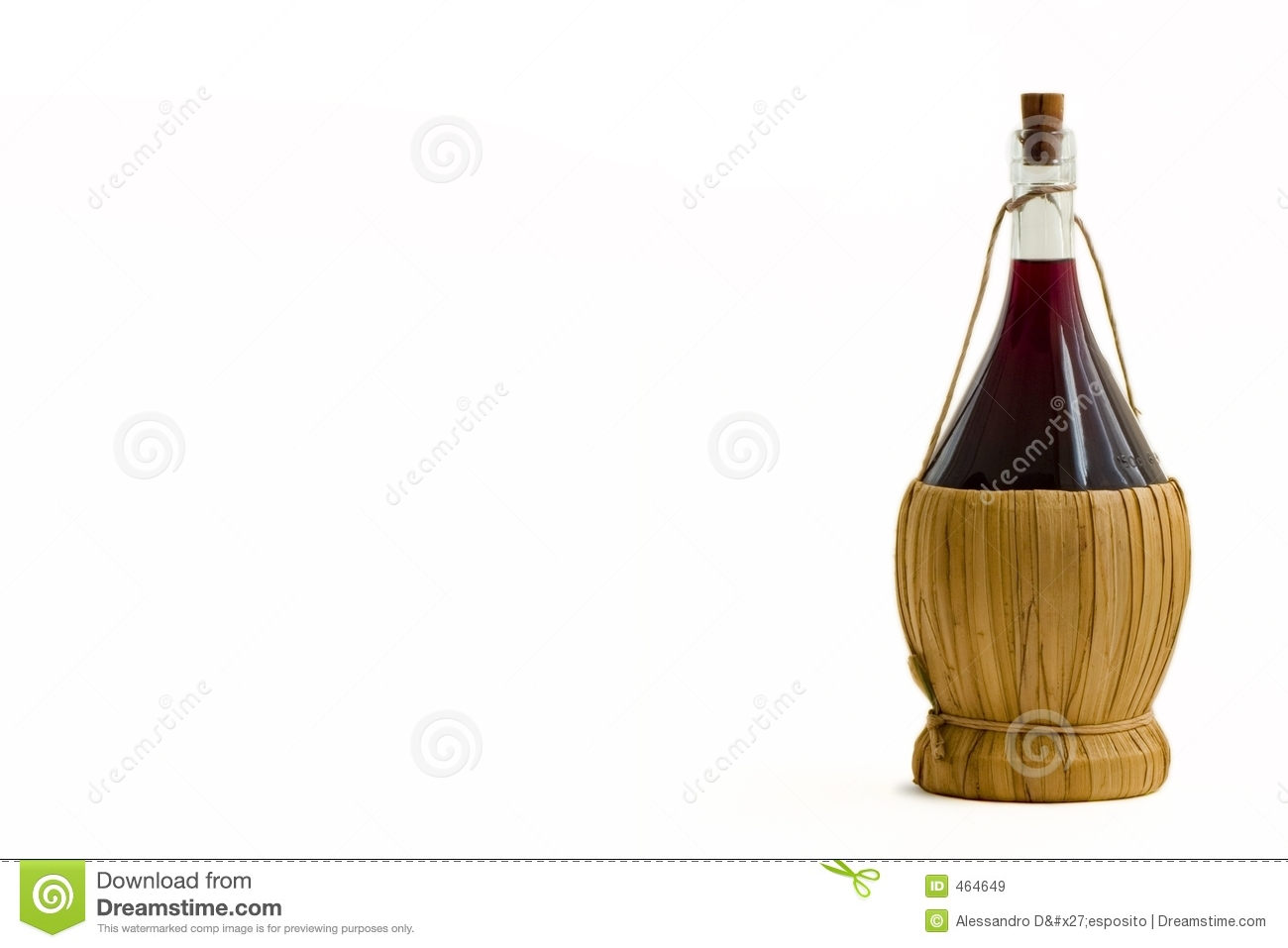 Old Bottle of Red Wine
