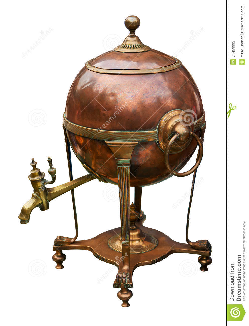 Old Brass Boiler Royalty Free Stock Photo Image 34459995