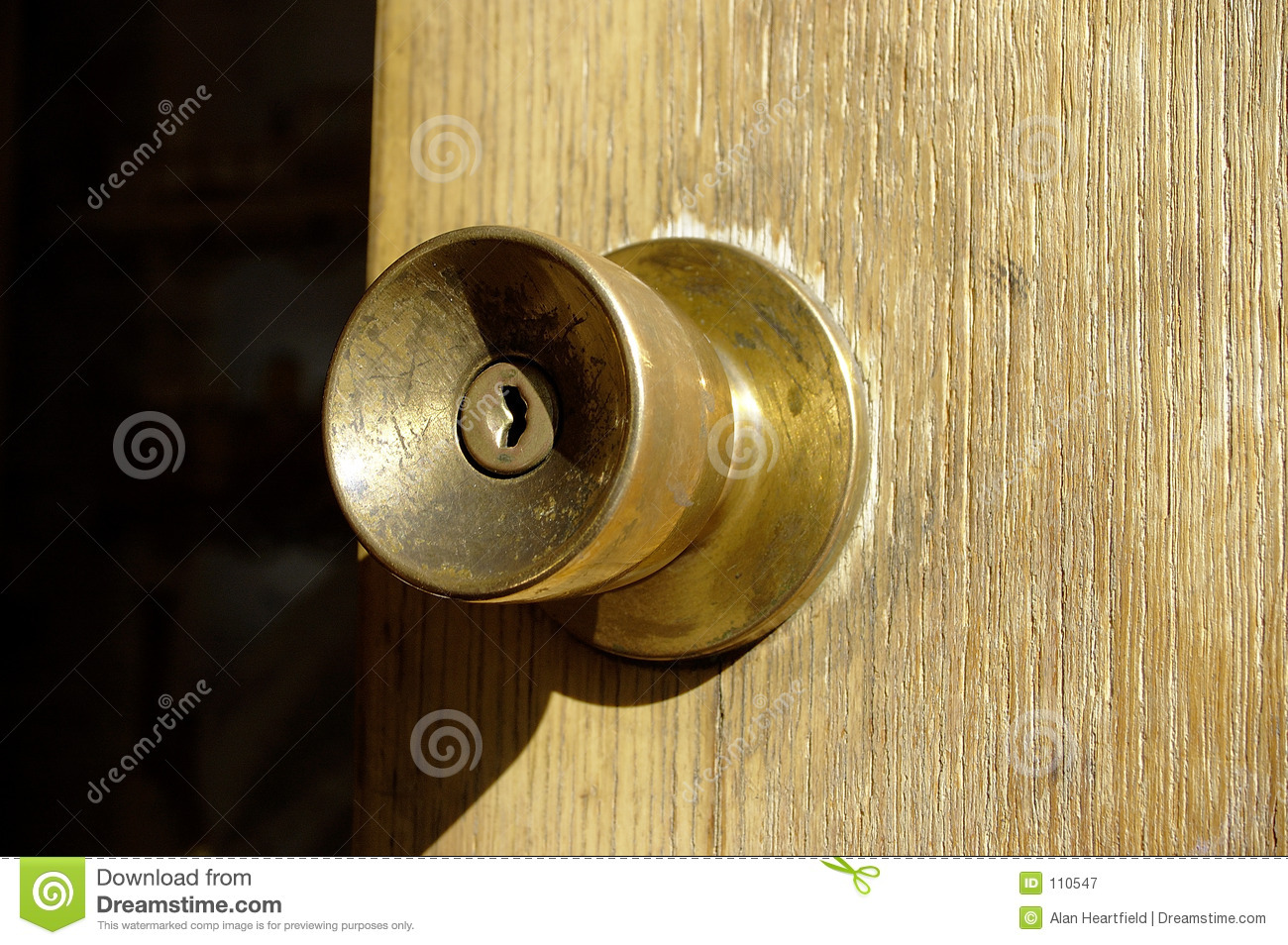 Old Brass Doorknob