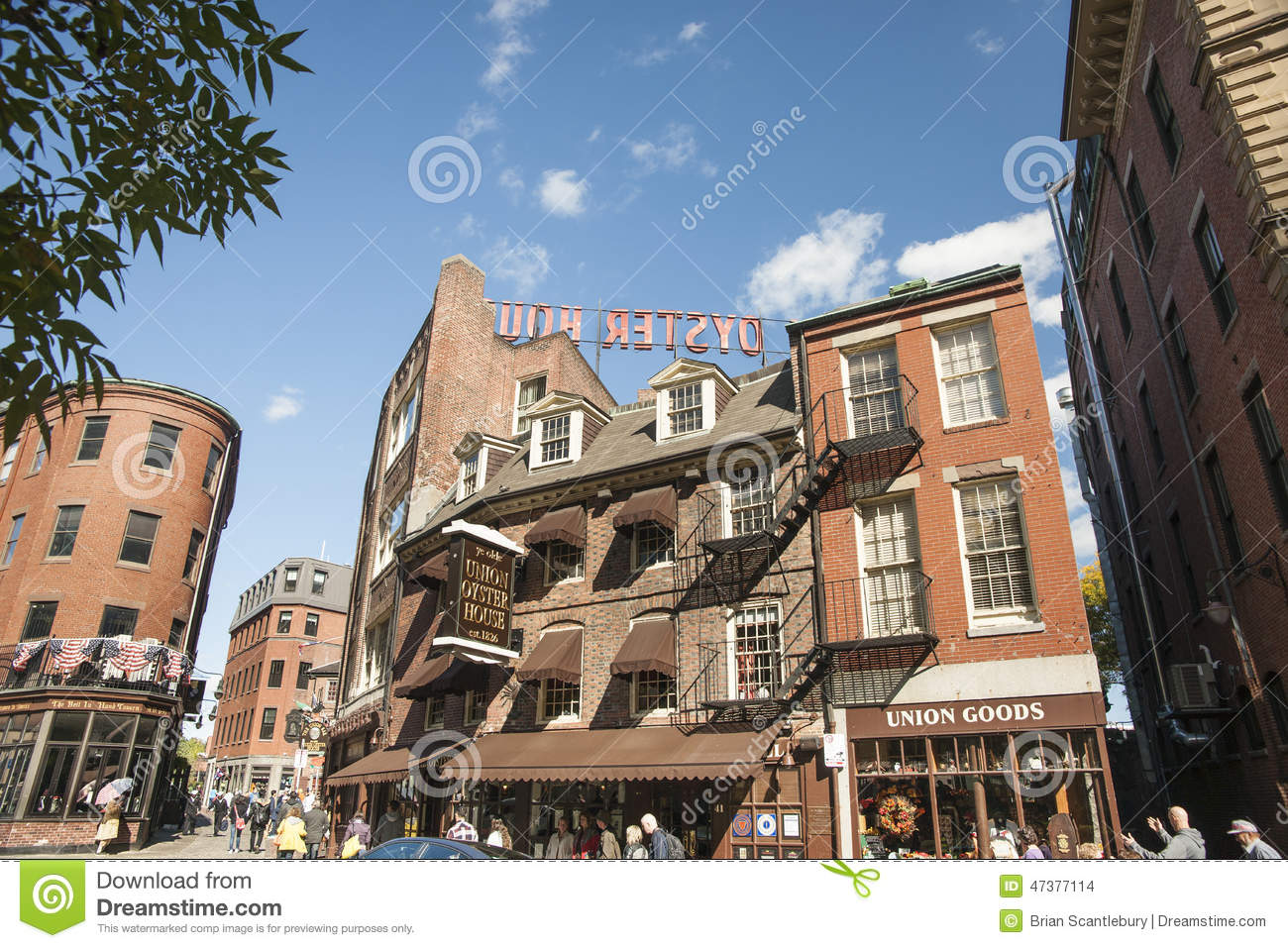 Old Brick Architecture Of Boston Editorial Stock Image Image