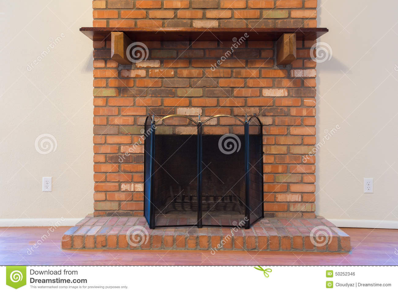 The Old Brick Fireplace Royalty Free Stock Photos - Image: 18315458