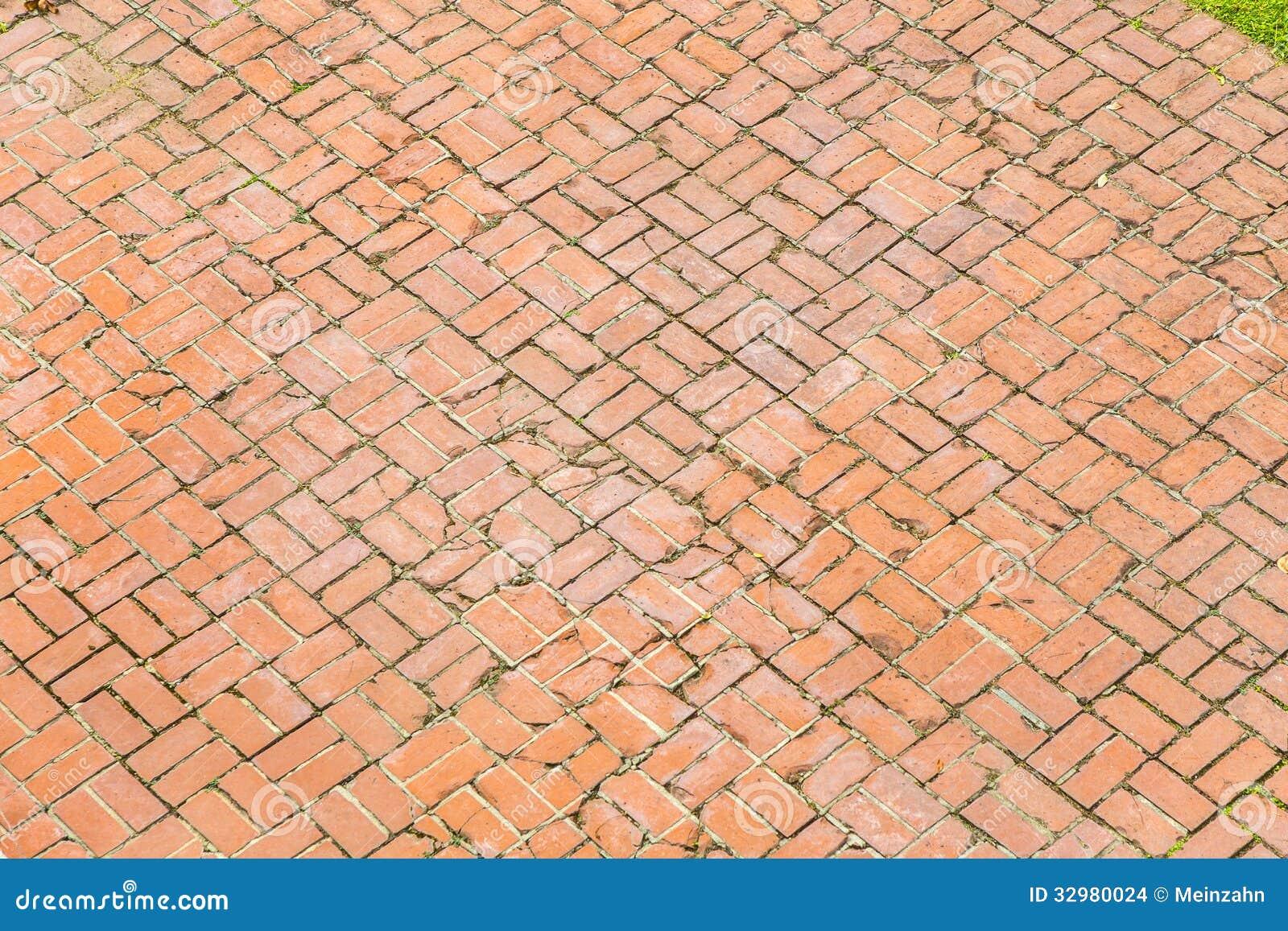 Z Brick Flooring : Old brick floor of an american stock images image