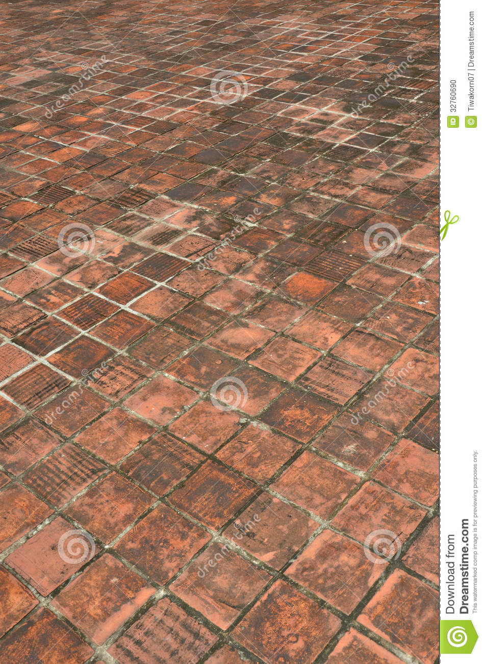 Old brick floor stock photo image of modern indoors for Brick flooring prices