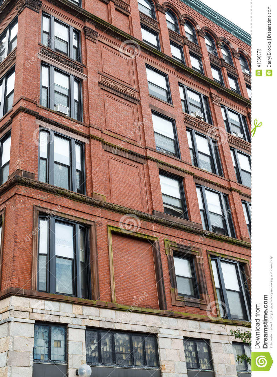 Old Brick Loft Apartments Stock Photo Image 41860873