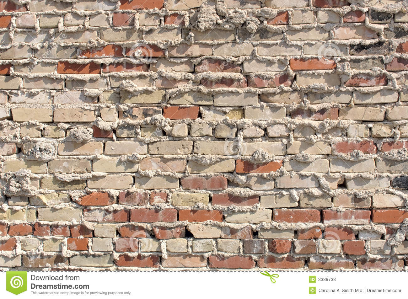 Old Brick and Mortar Wall stock image. Image of texture - 3336733