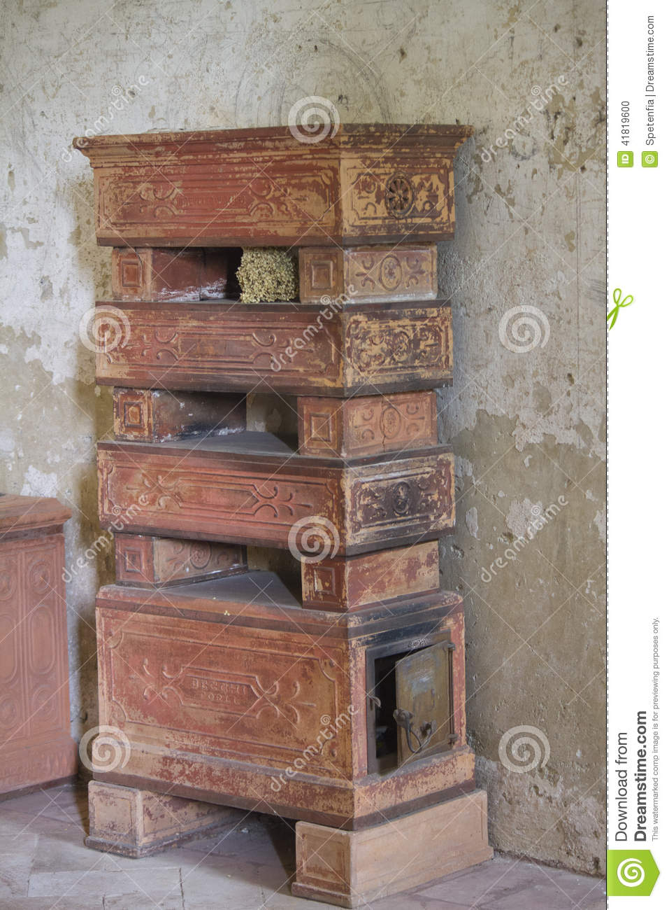 Old Brick Stove Stock Photo Image Of Indoor Interiors