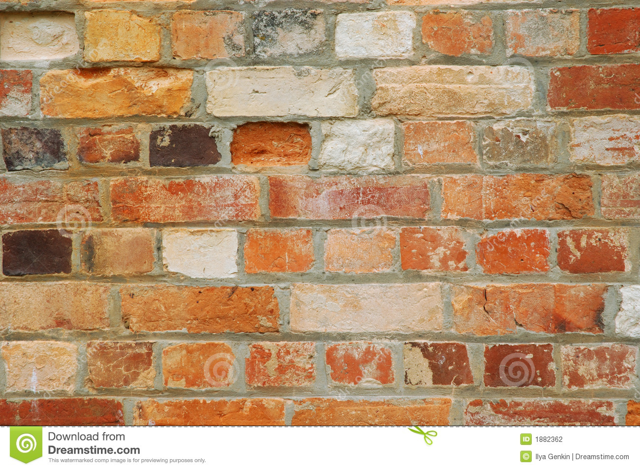Texture series old brick wall background