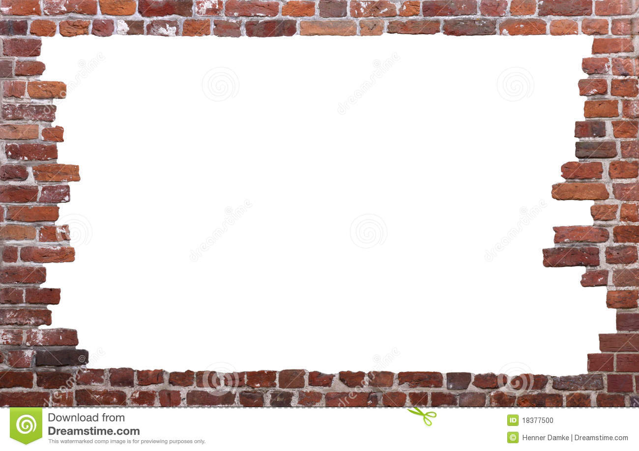 Old brick wall as a frame 01 stock photo image 18377500 - Royalty Free Stock Photo Download Old Brick Wall As A Frame 01