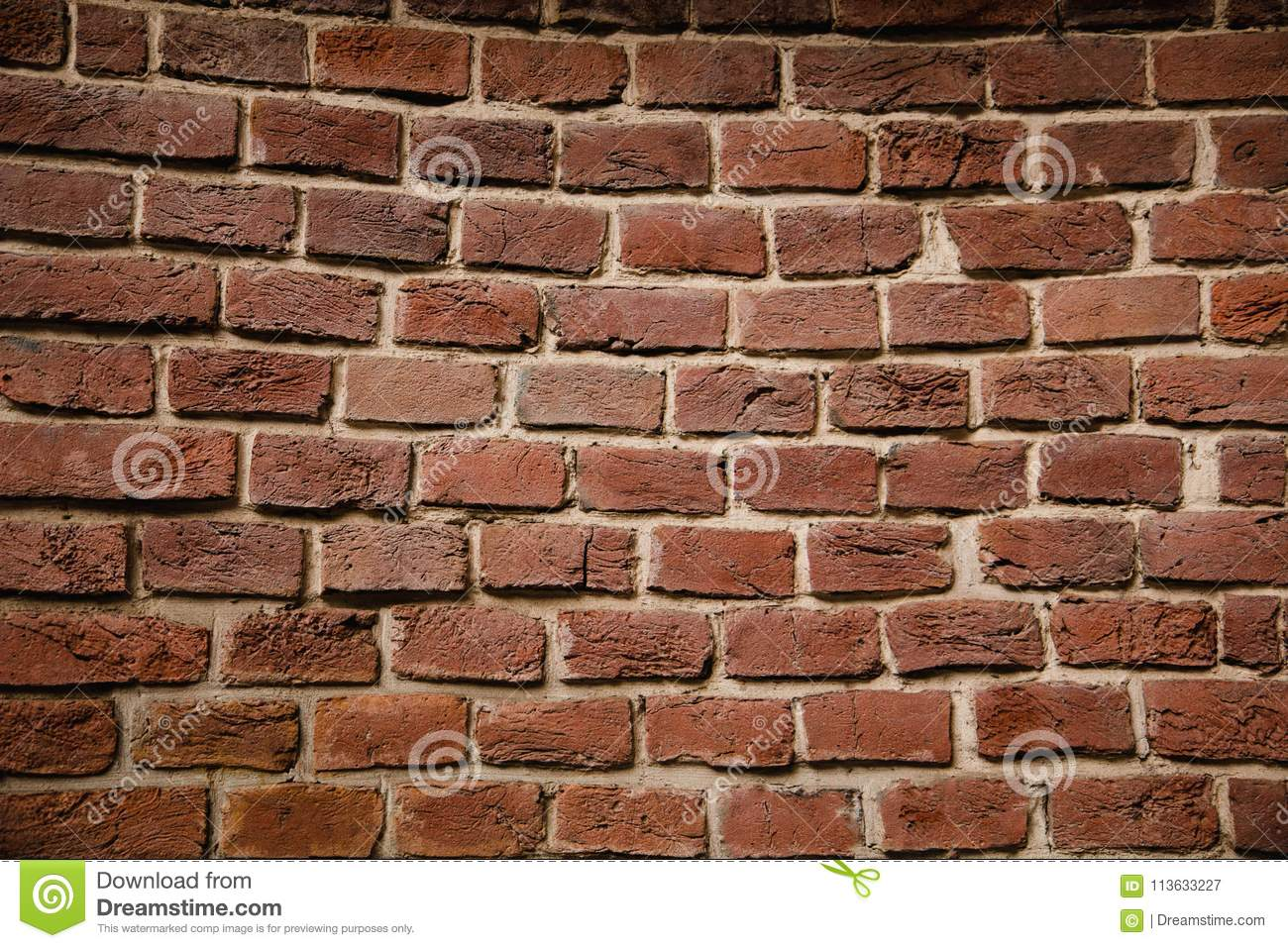 Old brick wall. Background of old vintage brick wall.